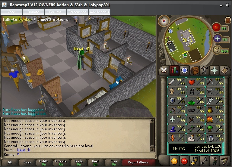 1900 Total Level and 84 Herblore. 1900_t10