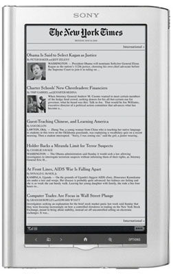 Sony Reader Daily Edition adds Wi-Fi And 3G features Sony10