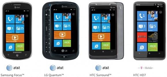 Windows Phone 7 Smartphones on sales in USA Window10