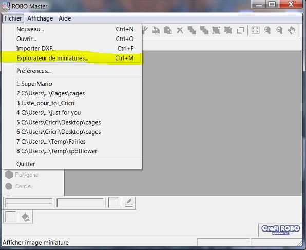 Mettre des fichiers GSD dans l'onglet MODELE de Robo-Master Captur17