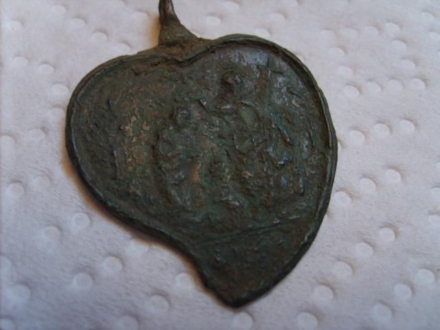 Médaille en forme de coeur - Scène de la Nativité - XVIIème S5005011