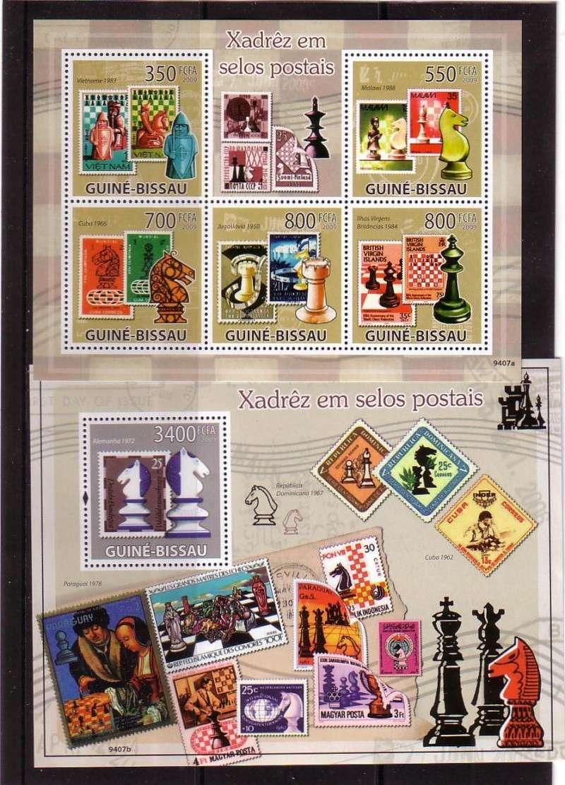 Schach - das königliche Spiel / Briefmarken Schach10