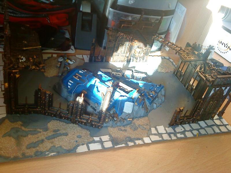Ruine urbaine et barricade Peintu10
