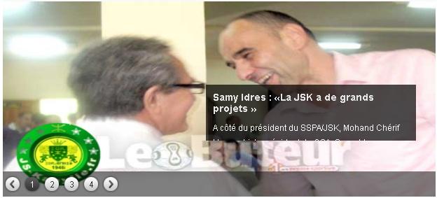 Samy IDRES (Président du CSA-JSK - Ex-Manager Général) 20130422