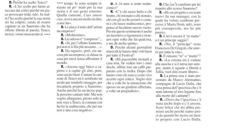 [Sanremo 2013] Marco va in Riviera 2 - Articoli e Interviste - Pagina 8 Chi_310