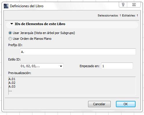 ORGANIZACON AUTOMATICAS DE PLANOS Id0111