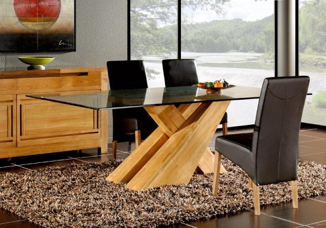 [Suisse] Donne table de salle à manger rouge & noir C7180v10