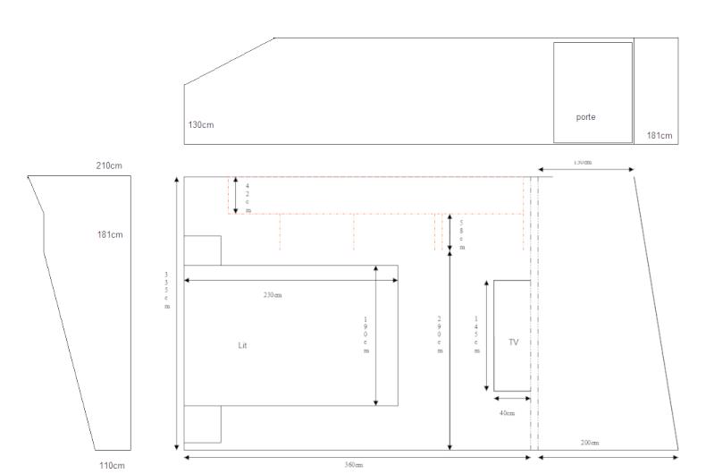 Chambre à coucher - comment placer les meubles Plan_c13