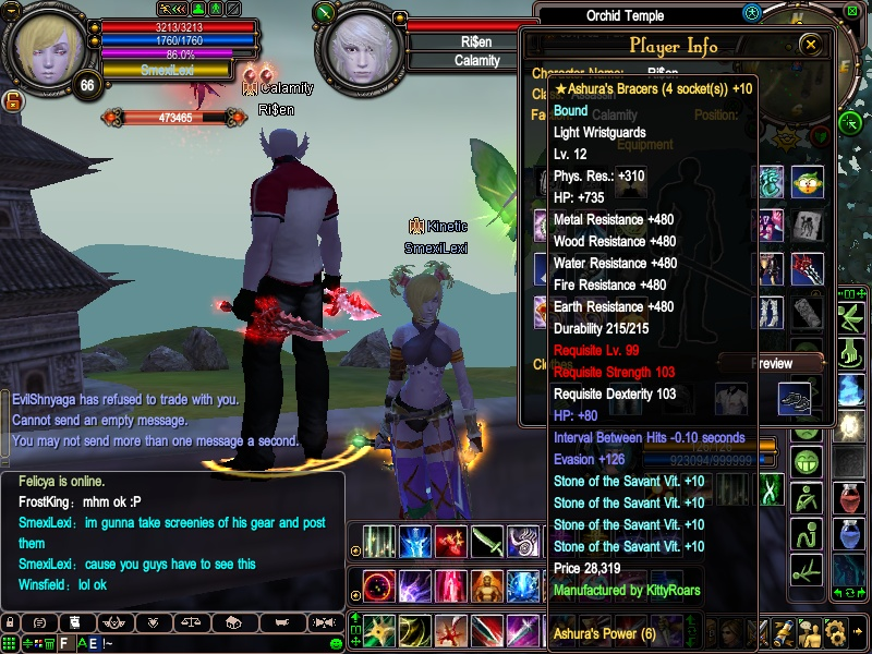 Ri$en's equipment - first lvl 100+ assassin 2010-012