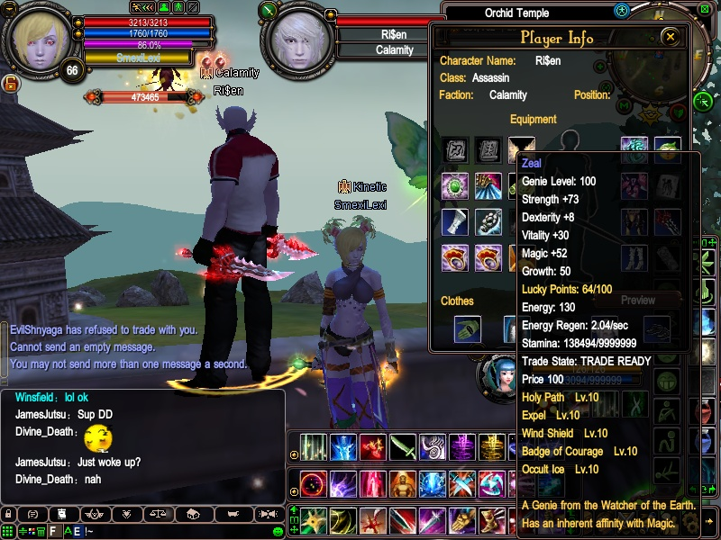 Ri$en's equipment - first lvl 100+ assassin 2010-017
