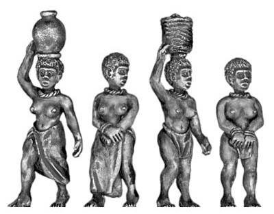 figurines de femmes en civil mais armées Esclav11