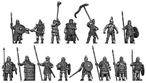 "Figurines ""dark ages"" chez Eureka miniatures Troupe10"