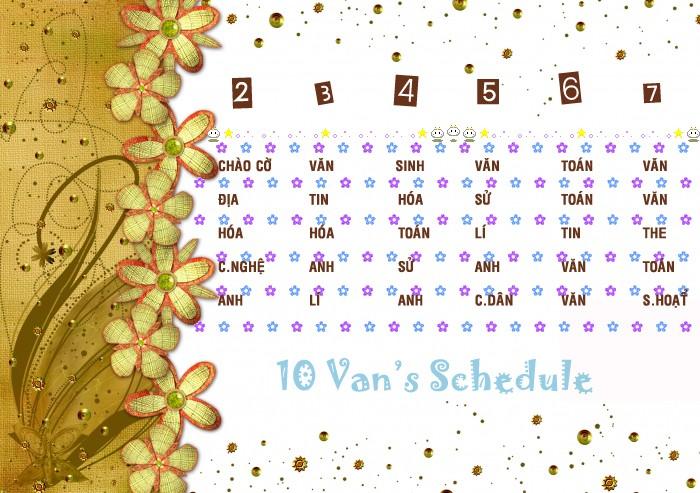•¤-:|:-10 Van-:|:-¤• Schedu10