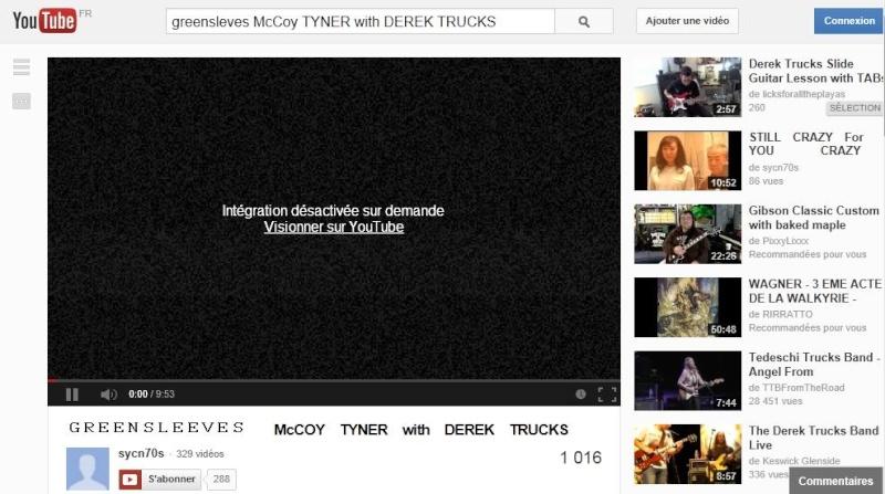 Derek Trucks - Vidéos Youtub11