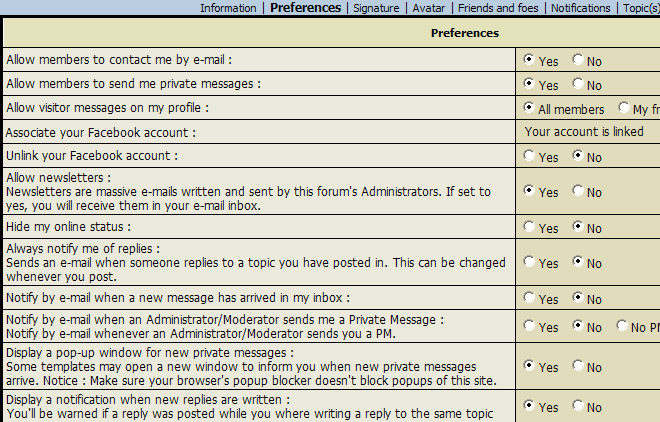 FAQ: Notifications Nf210