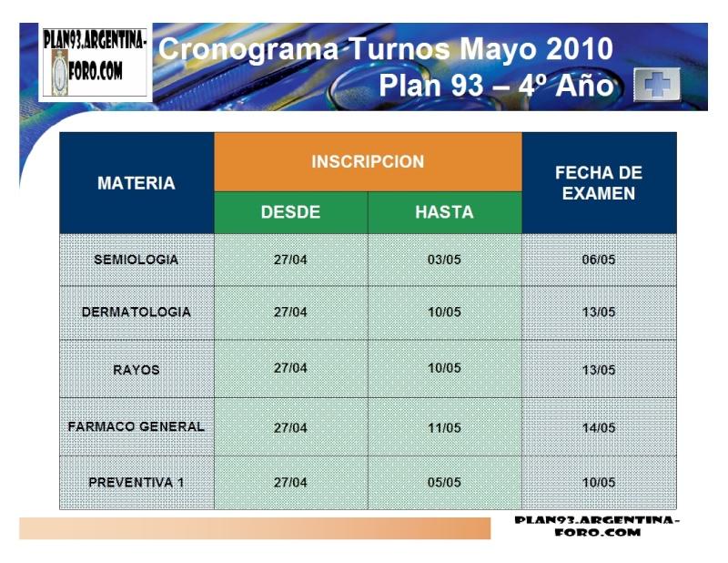 SEÑORES/AS: CON UDS. LAS FECHAS DE MAYO!!!! Turnos11