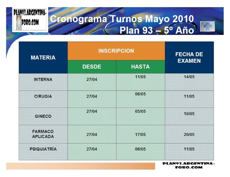 SEÑORES/AS: CON UDS. LAS FECHAS DE MAYO!!!! Turnos12
