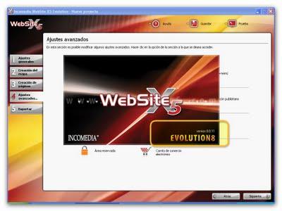 WebSite X5 Evolution v8.0.0.11 ML (Español), Crea tu sitio Web en Sólo 5 Pasos Websit10