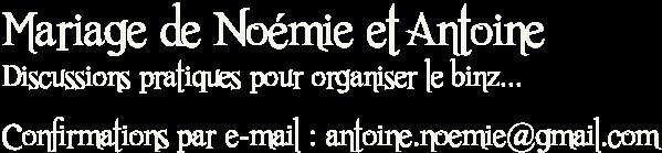Mariage de Noémie et Antoine