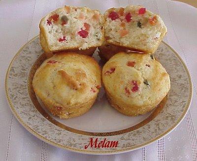 Muffins aux fruits confits Muffin12