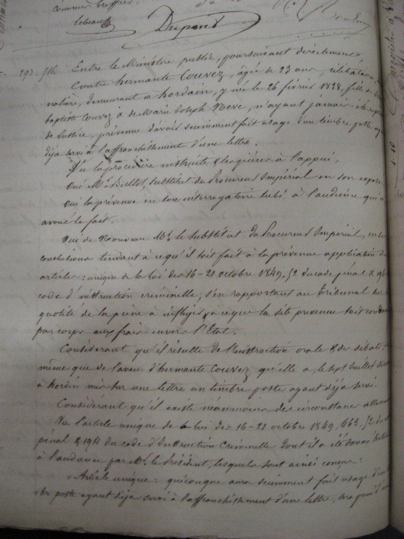 Juillet 1861: l'Affaire COUVET. Bouch612