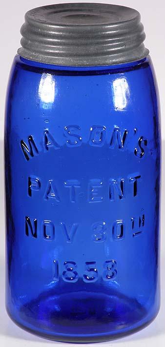 COBALT BLUE Masons Patent 1858 Quart 24500,00r eserve not meat  Blue10
