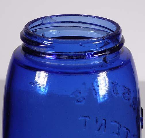COBALT BLUE Masons Patent 1858 Quart 24500,00r eserve not meat  Blue2_10