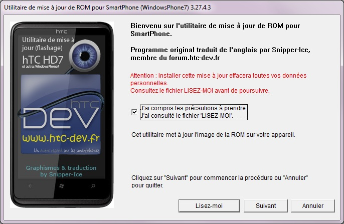 [TUTO]Flasher / Downgrader un spl inferieur à 4.X/Umbrander  son WP7 1er generation 0411