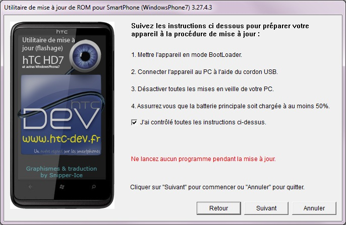 [TUTO]Flasher / Downgrader un spl inferieur à 4.X/Umbrander  son WP7 1er generation 0612