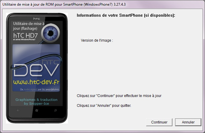 [TUTO]Flasher / Downgrader un spl inferieur à 4.X/Umbrander  son WP7 1er generation 0711