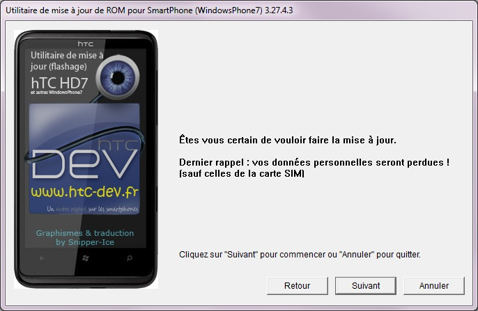[TUTO]Flasher / Downgrader un spl inferieur à 4.X/Umbrander  son WP7 1er generation 0811