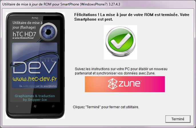 [TUTO]Flasher / Downgrader un spl inferieur à 4.X/Umbrander  son WP7 1er generation 1011