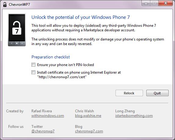 [TUTO] Utilisez ChevronWP7 et déverrouilez votre Windows Phone pour installer de nombreuses applications Chevro16