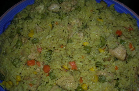 curry vegetable rice with chicken 110