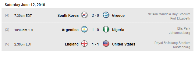 The FIFA World Cup 2010 South Africa results thread 2010-017