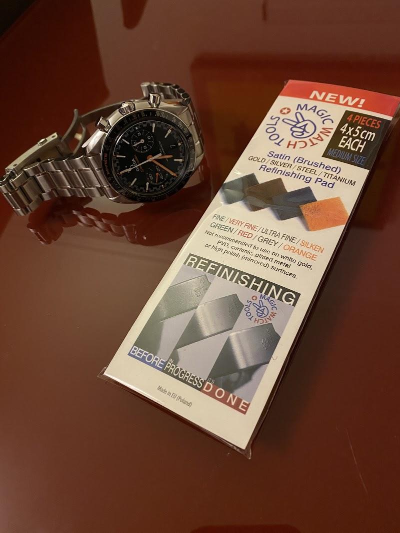 Remover riscos e marcas de relógio ou bracelete Metal Escovado... experiências? Img_2510