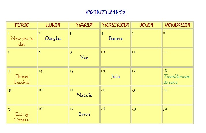 Calendrier (1ere generation) Screen20