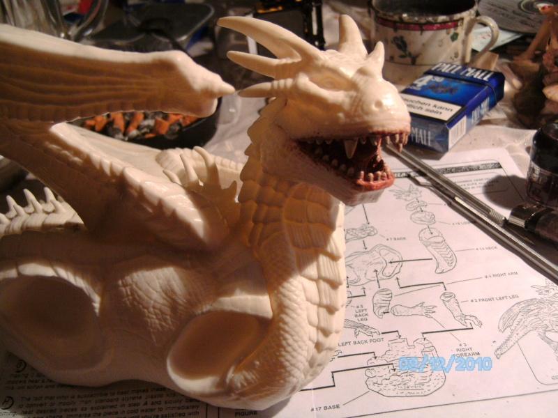 Draco mit Bowen aus dem Film Dragonheart von Revell  Pict1091