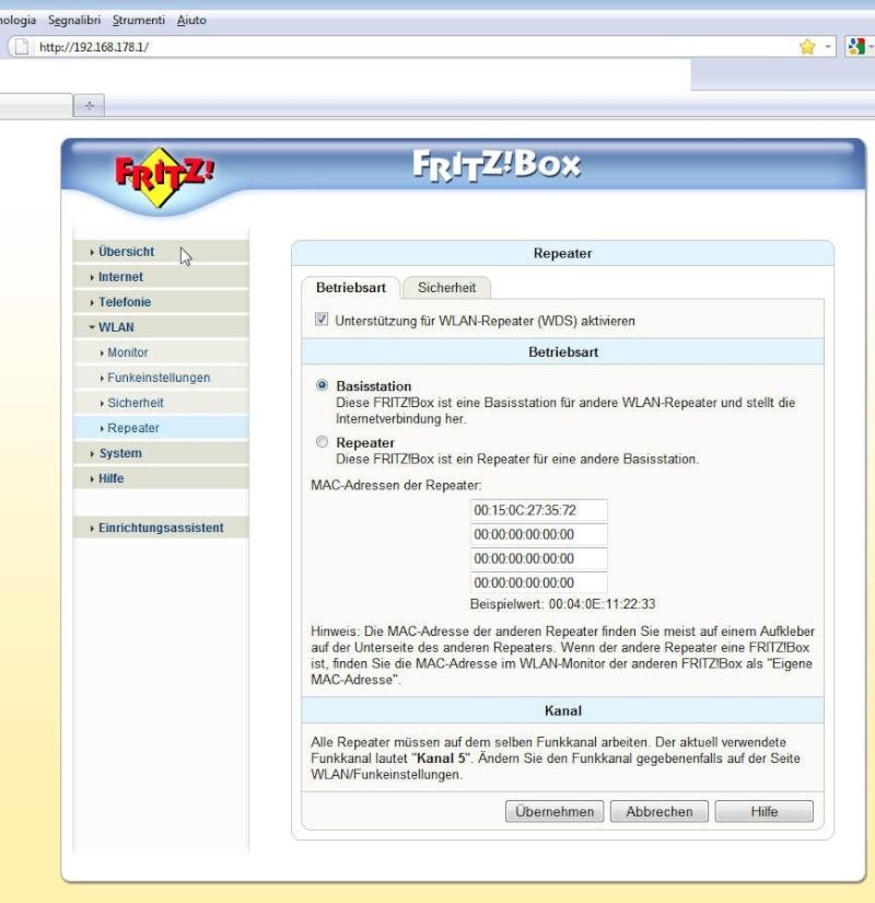 Come impostare il FritzBox 7050 come ripetitore? Fritz111