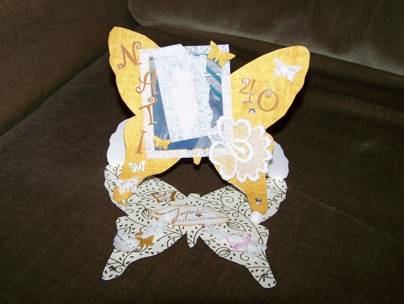carte anniversaire forme papillon 00212