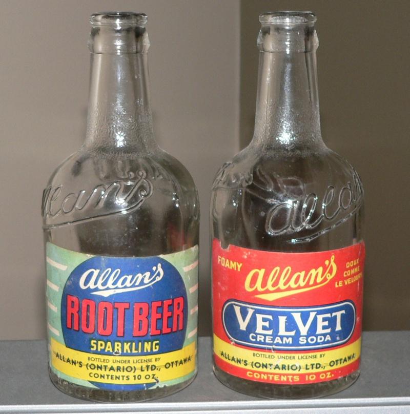 2 Allan's - Root beer & Velvet cream soda - 10oz avec étiquettes de papier 2allan10