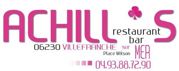 Bar Restaurant ACHILL'S a Villefranche  Logo_a11