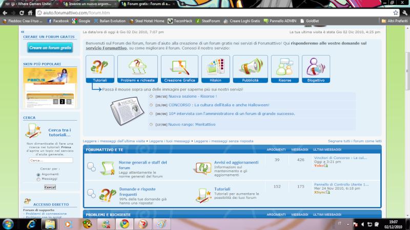 Un menù sopra le categorie come forumattivo Screen10
