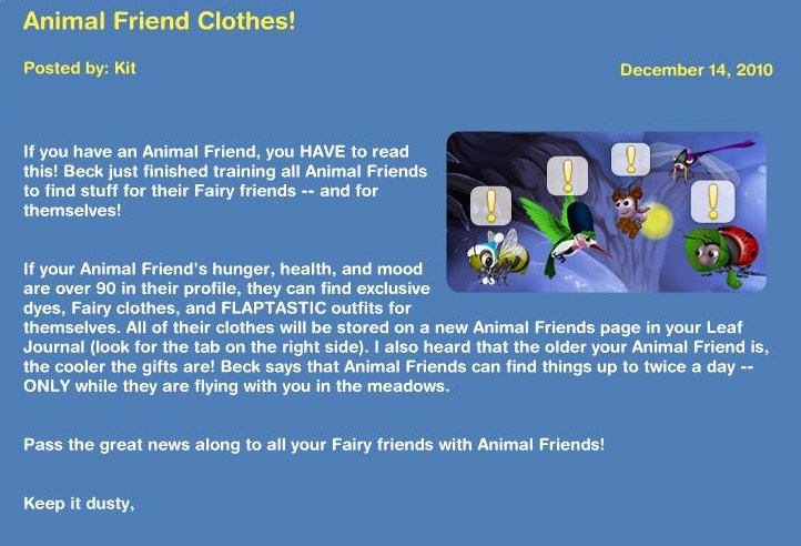 Animal Friends Clothes! N10