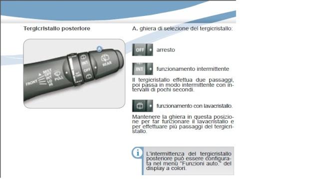 Tergicristallo posteriore/retromarcia Tergic11