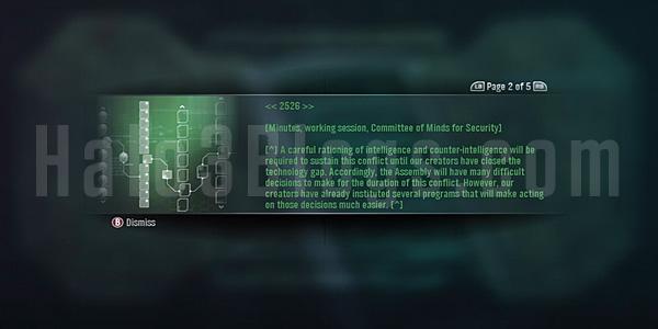 Halo Reach: les Datapads Messag12