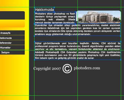 Flash Template Web Site Hazırlama 1810