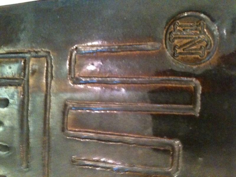Stamped but unidentified obelisk vase,  MJ or JM 3obeli10