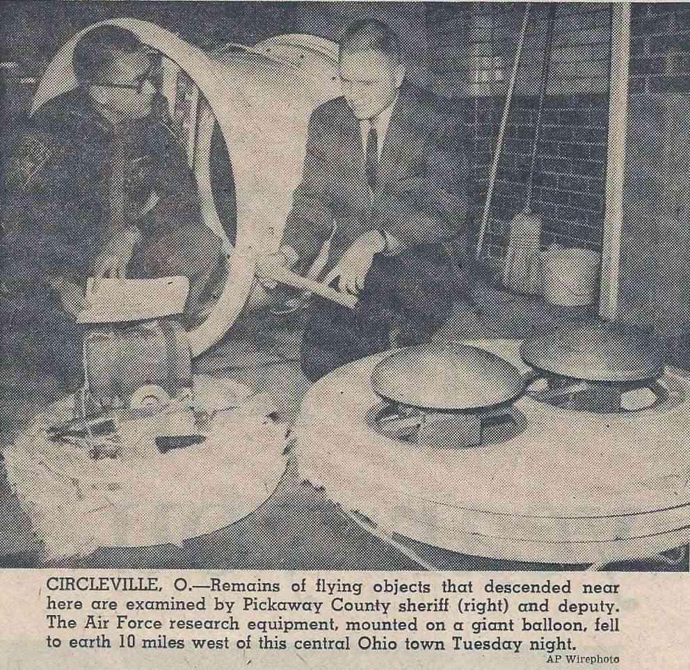Portage County Ohio, Police UFO chase 1966 Circle10
