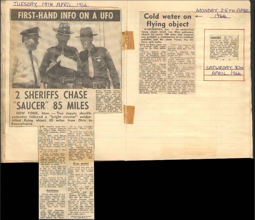 Portage County Ohio, Police UFO chase 1966 Portag11